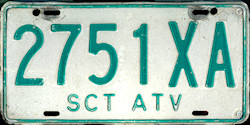 SCT Mexico License Plate Placa transfer traslado atv