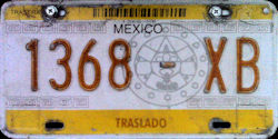 SPF Mexico License Plate Placa transfer traslado