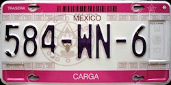 SPF Mexico License Plate Placa trailer carga remolque