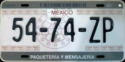 SPF Mexico License Plate Placa courier messenger paqueteria mensajeria