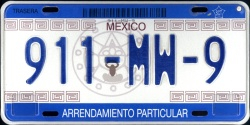 SPF Mexico License Plate Placa rental arrendamiento