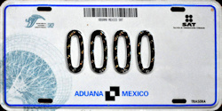 Mexico Federal License Plates Placas