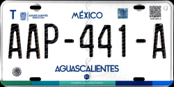 Aguascalientes Mexico License Plates Placas