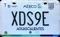 2017 Aguascalientes Mexico License Plate Placa motorcycle motocicleta