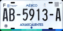 Aguascalientes Mexico License Plate Placa truck camion