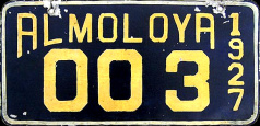 Almoloya de Juarez Estado de Mexico License Plate Placa