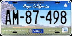 Baja California Mexico License Plate Placa truck camion