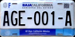 Baja California Mexico License Plates Placas