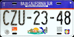 Baja California Sur Mexico License Plates Placas