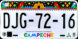 Campeche Mexico License Plates Placas