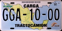 SPF Mexico License Plate Placa carga sample prototype