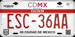 CDMX Ciudad de México License Plate Placa escort security escolta