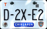 Chihuahua Mexico License Plate Placa motorcycle motocicleta