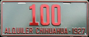 Chihuahua Mexico License Plate Placa commercial bus taxi autobus publico