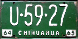 Chihuahua Mexico License Plate Placa