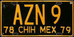 Chihuahua Mexico License Plate Placa bus autobus