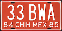 Chihuahua Mexico License Plate Placa taxi publico