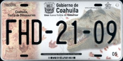 Coahuila Mexico License Plate