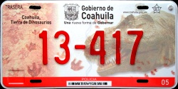 Coahuila Mexico License Plate Placa police policia