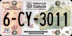 Coahuila Mexico License Plate Placa trailer remolque
