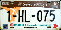 Coahuila Mexico License Plate Placa dealer demostracion