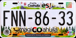 Coahuila Mexico License Plates Placas