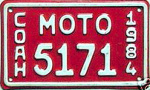 Coahuila Mexico License Plate Placa motorcycle motocicleta