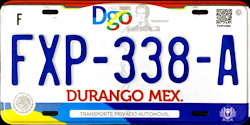 Durango Mexico License Plates Placas