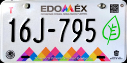 Estado de Mexico License Plate Placa eco-friendly automovil ecologico