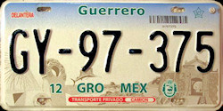 Guerrero Mexico License Plate Placa truck camion
