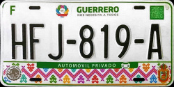 Guerrero Mexico License Plates Placas
