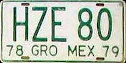 Guerrero Mexico License Plate Placa commercial truck camion publico