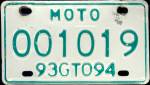 Guanajuato Mexico License Plate Placa motorcycle motocicleta