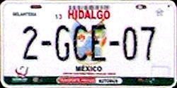 Hidalgo Mexico License Plate Placa bus autobus