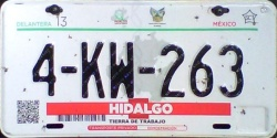 Hidalgo Mexico License Plate Placa dealer demostracion