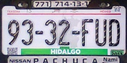 Hidalgo Mexico License Plate Placa taxi publico