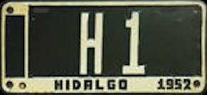 Hidalgo Mexico License Plate Placa