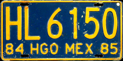 Hidalgo Mexico License Plate Placa truck camion
