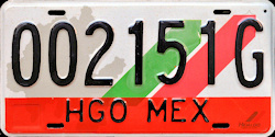 Hidalgo Mexico License Plate Placa commercial bus autobus publico