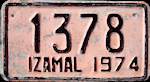Izamal Yucatan Mexico License Plate placa motorcycle motocicleta