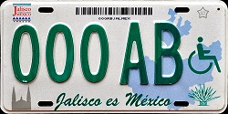 Jalisco Mexico License Plate Placa handicapped discapacitados prototype