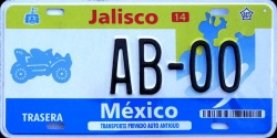 Jalisco Mexico License Plate Placa antique auto antiguo