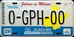 Jalisco Mexico License Plate Placa bus autobus subrogado
