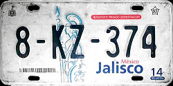 Jalisco Mexico License Plate Placa dealer demostracion