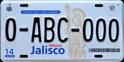 Jalisco Mexico License Plate Placa commercial truck camion publico prototype