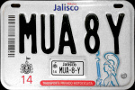 Jalisco Mexico License Plate Placa motorcycle motocicleta