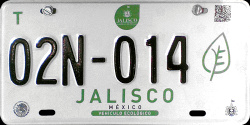 Jalisco Mexico License Plate Placa eco-friendly automovil ecologico