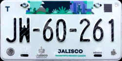Jalisco Mexico License Plates Placas