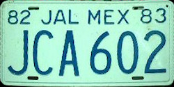 Jalisco Mexico License Plate Placa prototype