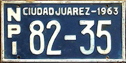 Ciudad Juarez Mexico License Plates Placas